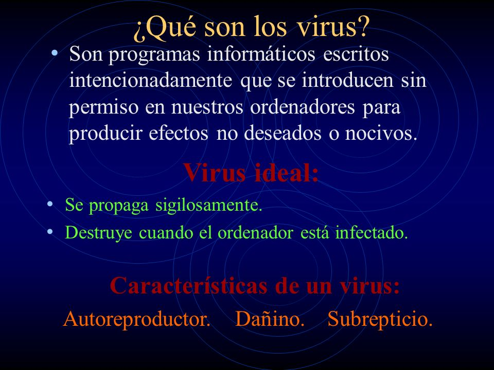 Características de un virus: