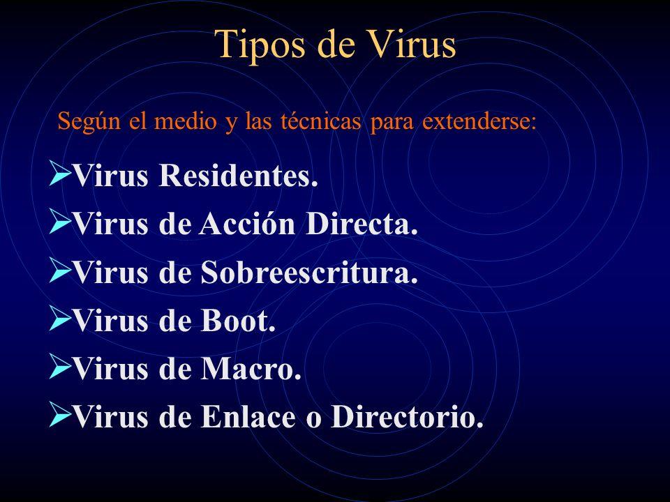 Tipos de Virus Virus Residentes. Virus de Acción Directa.