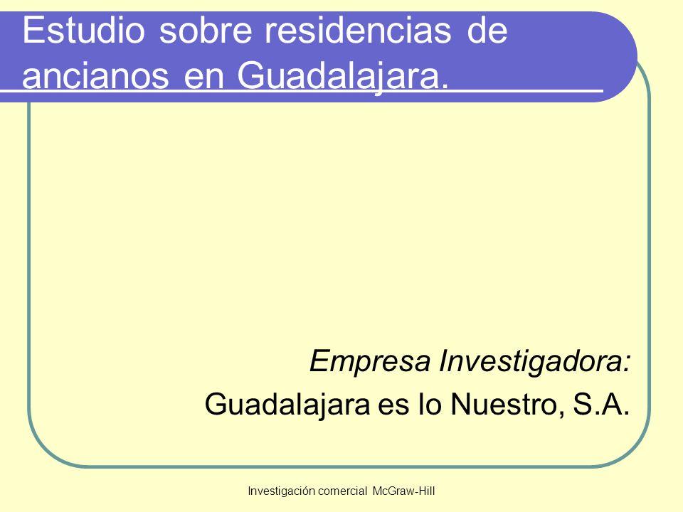 Estudio sobre residencias de ancianos en Guadalajara.