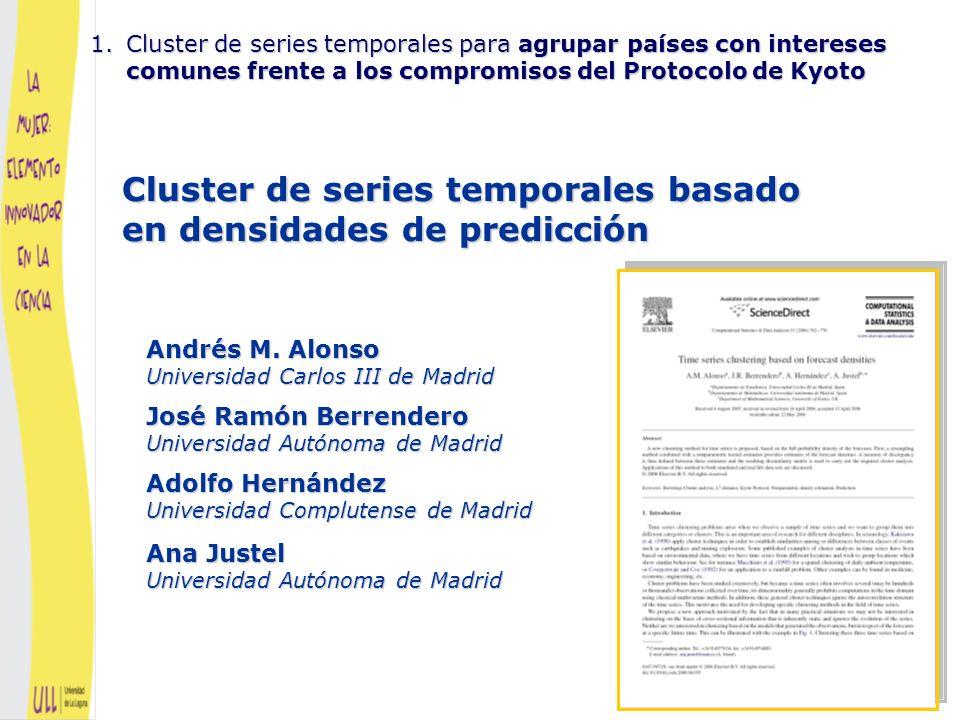 Cluster de series temporales basado en densidades de predicción