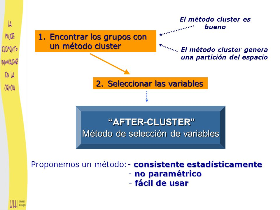 AFTER-CLUSTER Método de selección de variables
