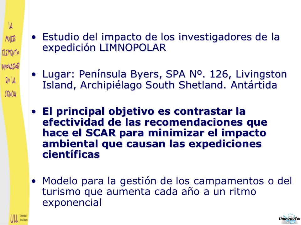 Estudio del impacto de los investigadores de la expedición LIMNOPOLAR