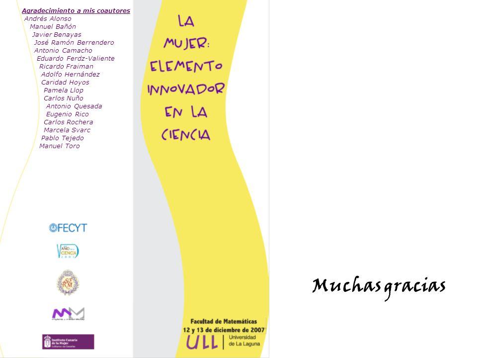 Muchas gracias Agradecimiento a mis coautores Andrés Alonso