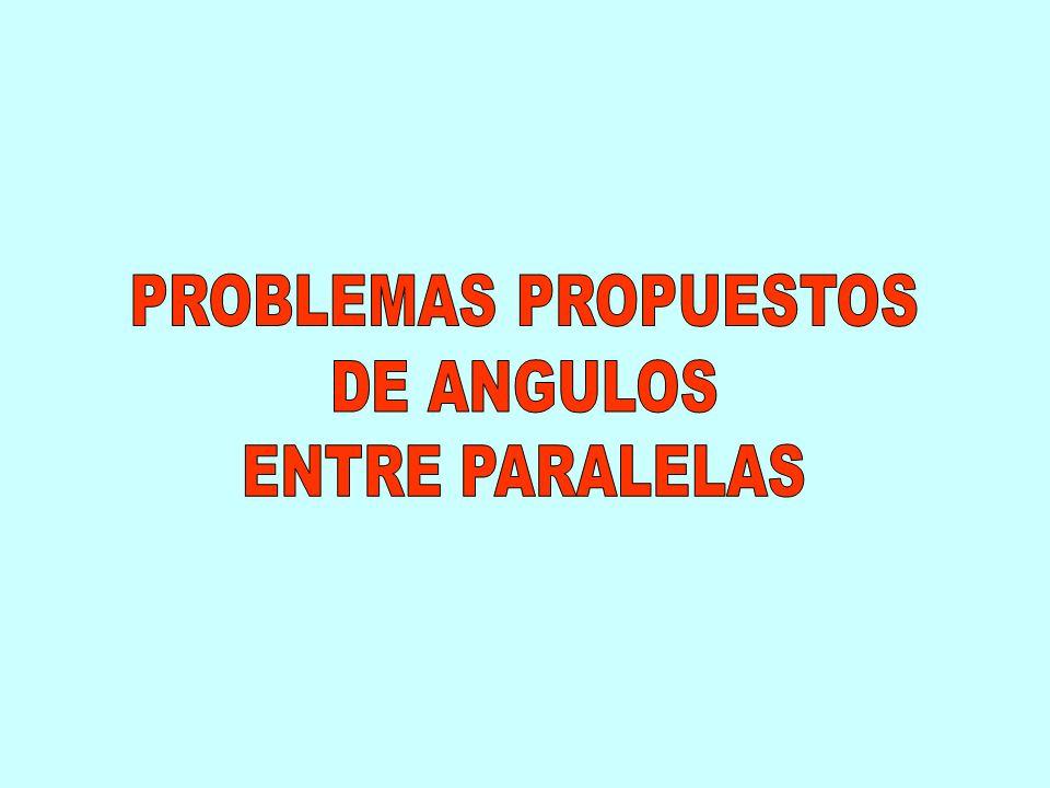 PROBLEMAS PROPUESTOS DE ANGULOS ENTRE PARALELAS