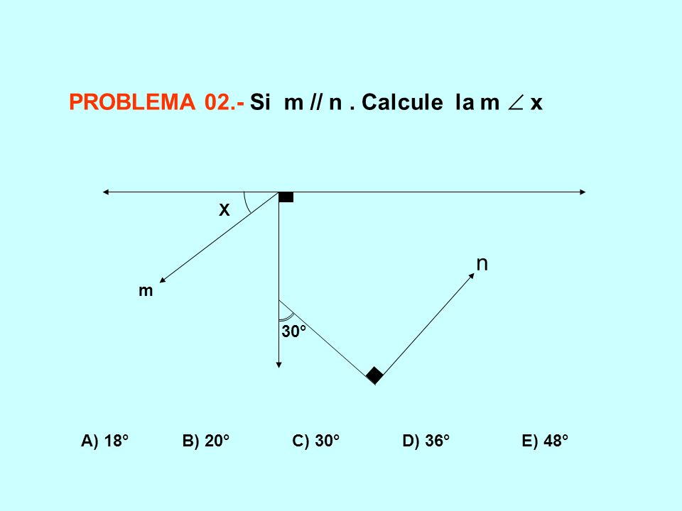 PROBLEMA 02.- Si m // n . Calcule la m  x