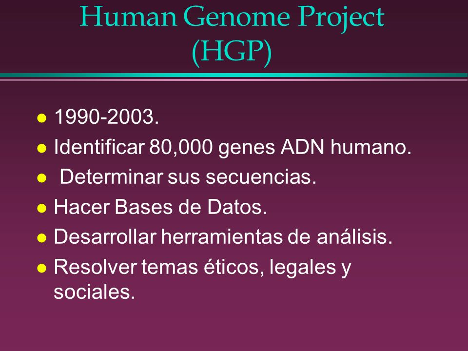 Human Genome Project (HGP)