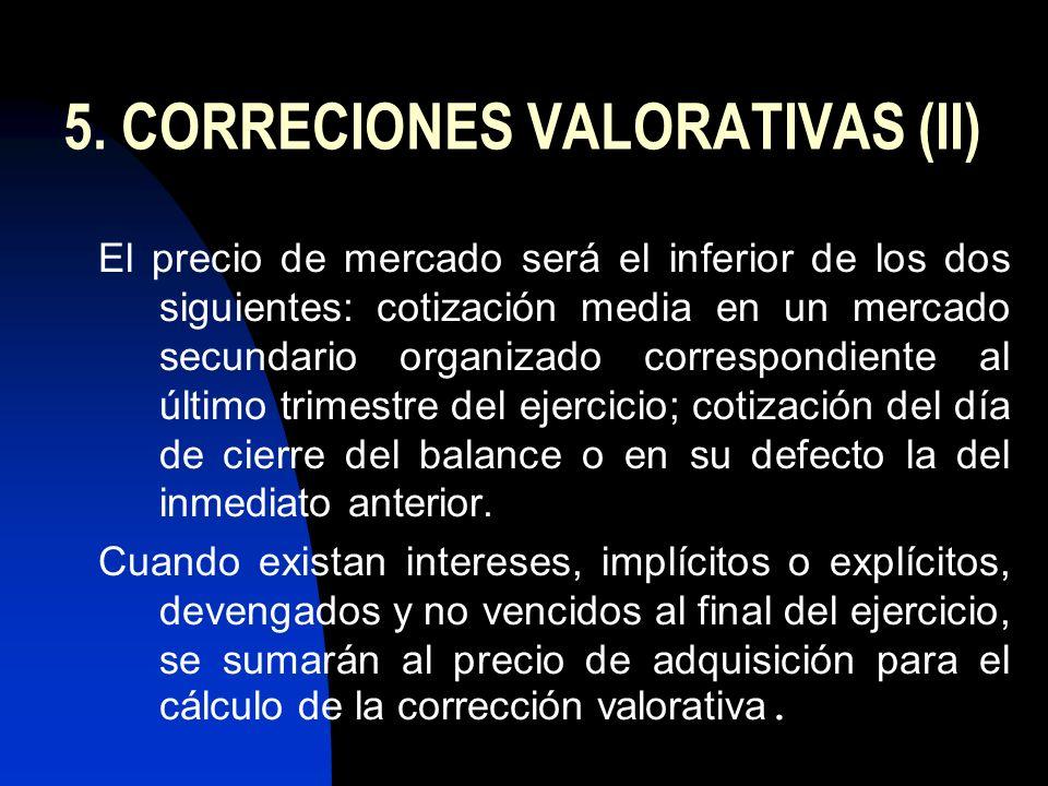 5. CORRECIONES VALORATIVAS (II)