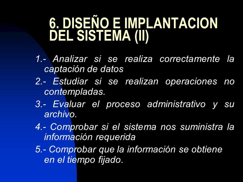 6. DISEÑO E IMPLANTACION DEL SISTEMA (II)