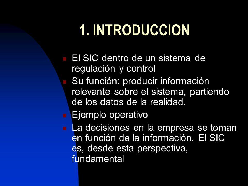 1. INTRODUCCION El SIC dentro de un sistema de regulación y control
