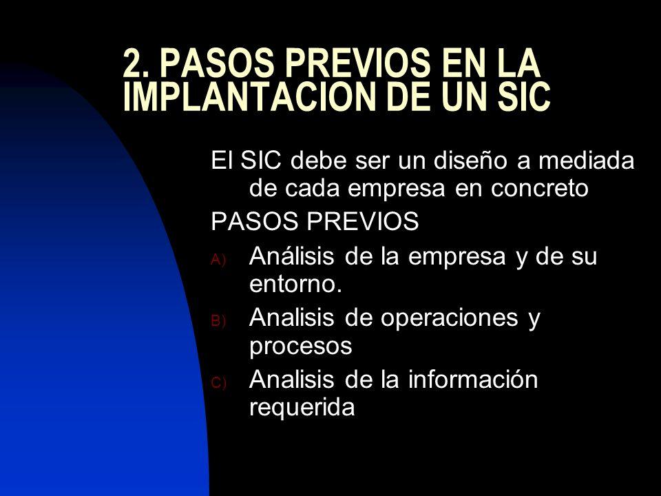2. PASOS PREVIOS EN LA IMPLANTACION DE UN SIC