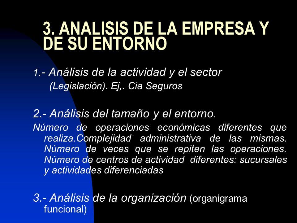 3. ANALISIS DE LA EMPRESA Y DE SU ENTORNO