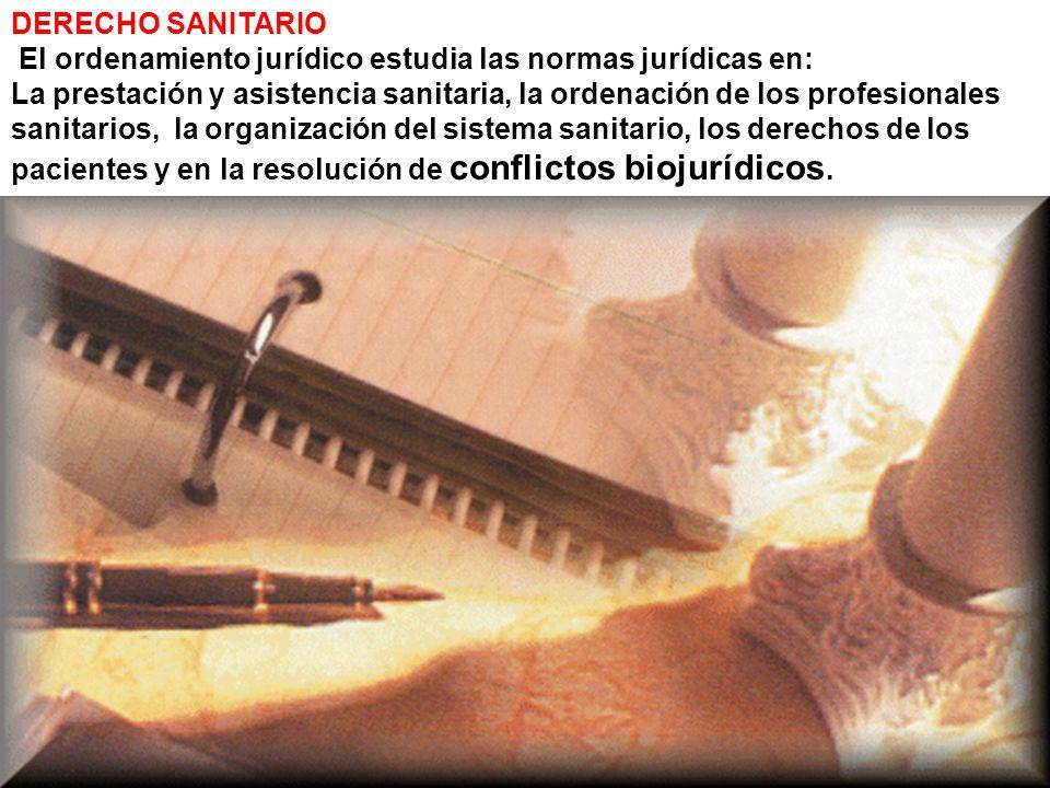 DERECHO SANITARIO