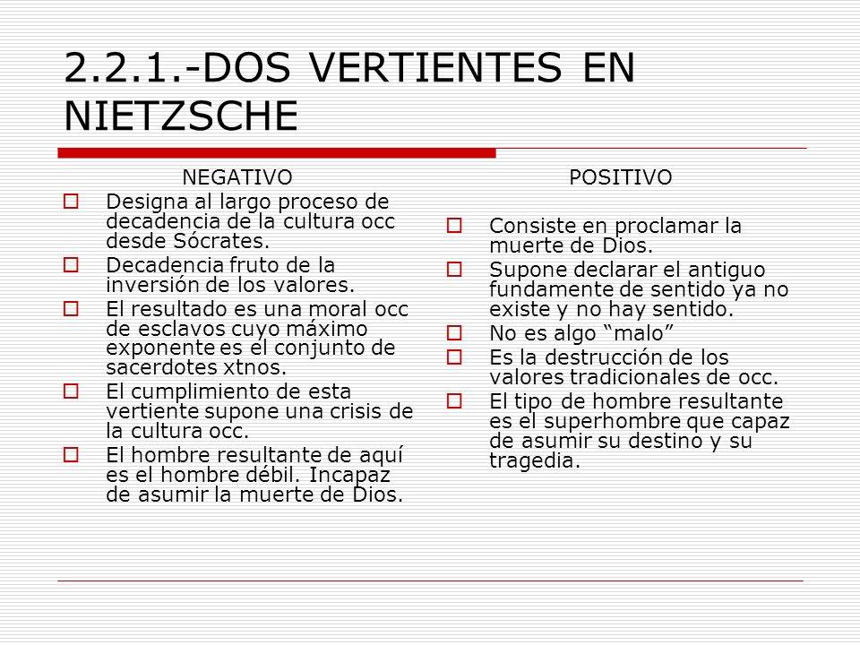 2.2.1.-DOS VERTIENTES EN NIETZSCHE