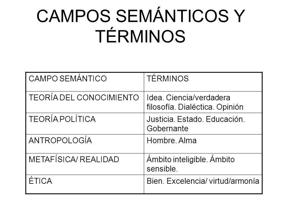 CAMPOS SEMÁNTICOS Y TÉRMINOS