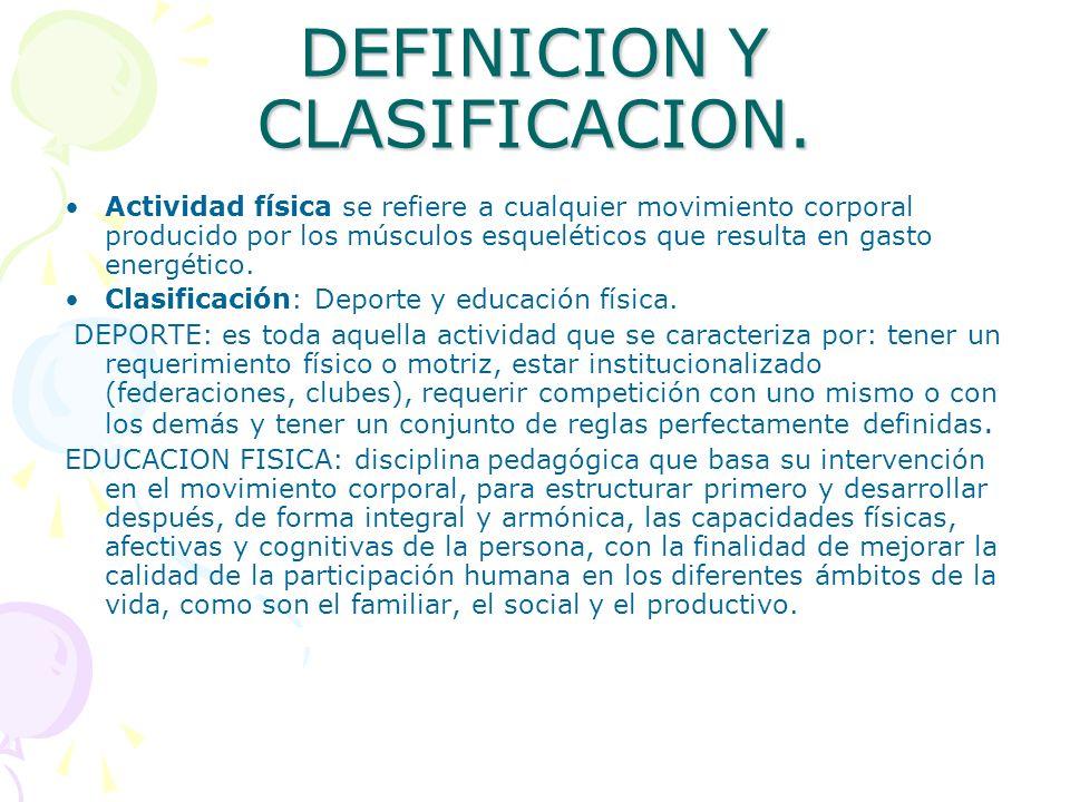 DEFINICION Y CLASIFICACION.