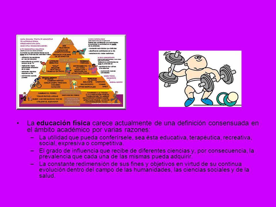 La educación física carece actualmente de una definición consensuada en el ámbito académico por varias razones: