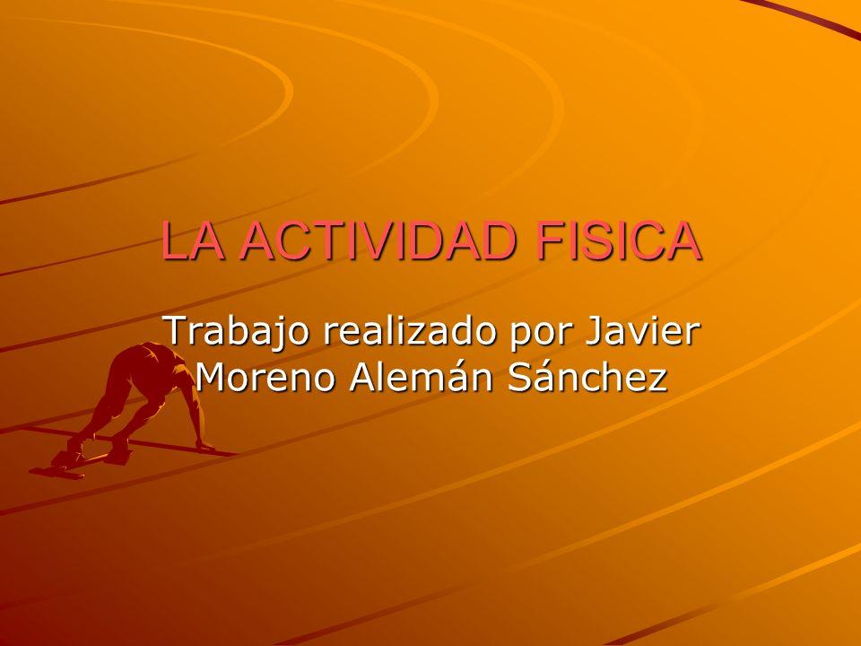 Trabajo realizado por Javier Moreno Alemán Sánchez