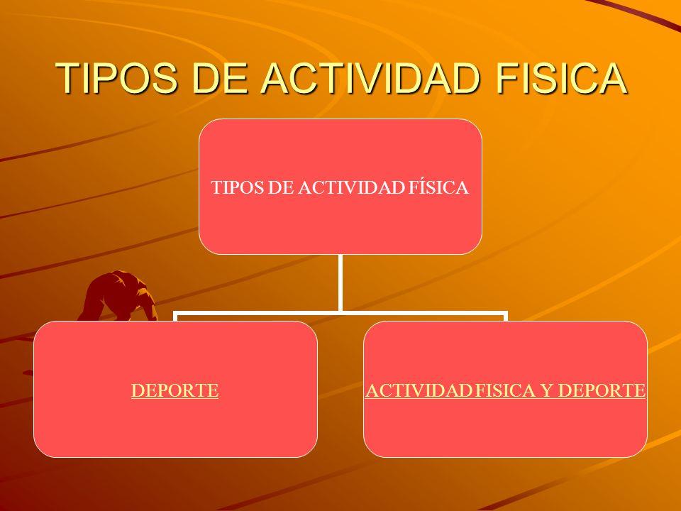 TIPOS DE ACTIVIDAD FISICA