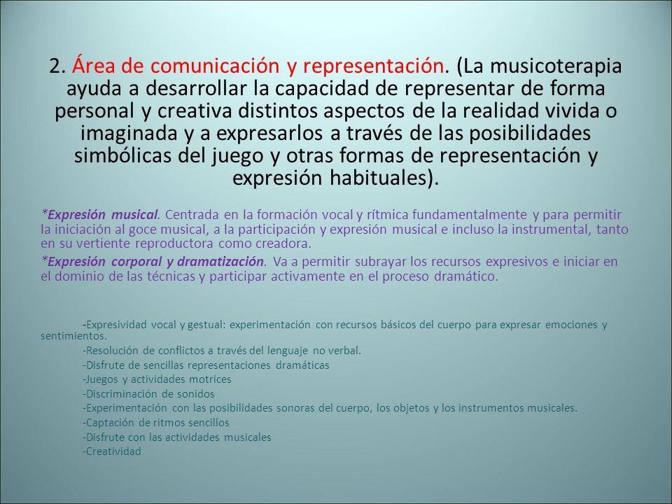 2. Área de comunicación y representación