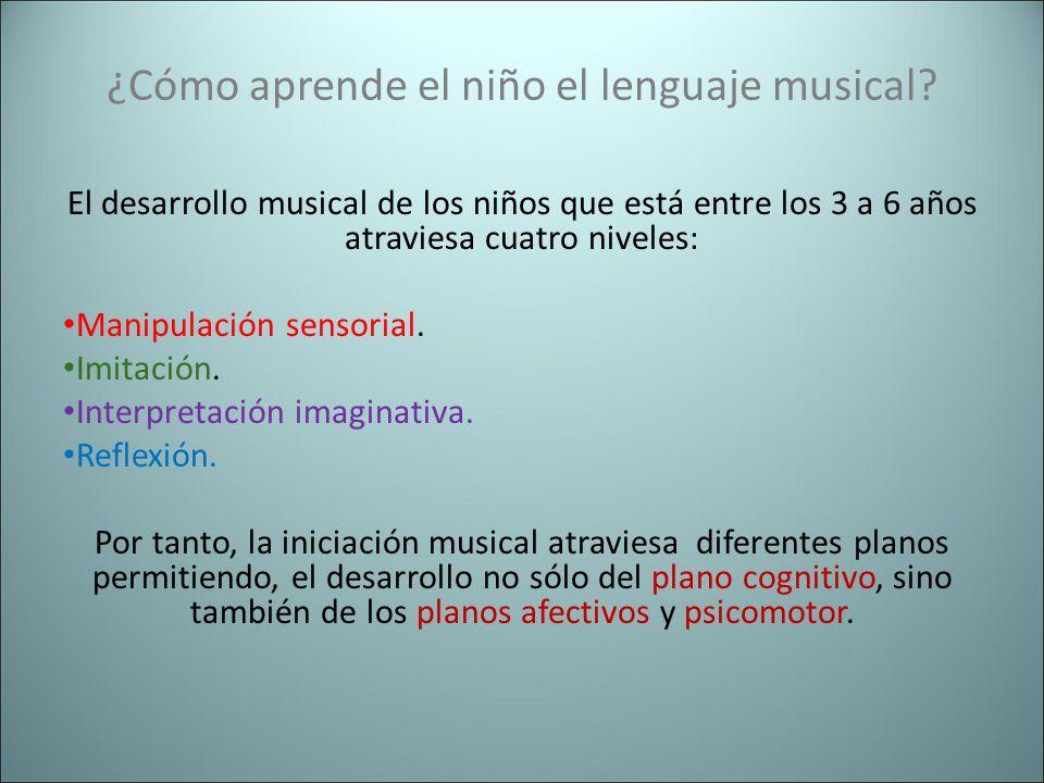 ¿Cómo aprende el niño el lenguaje musical