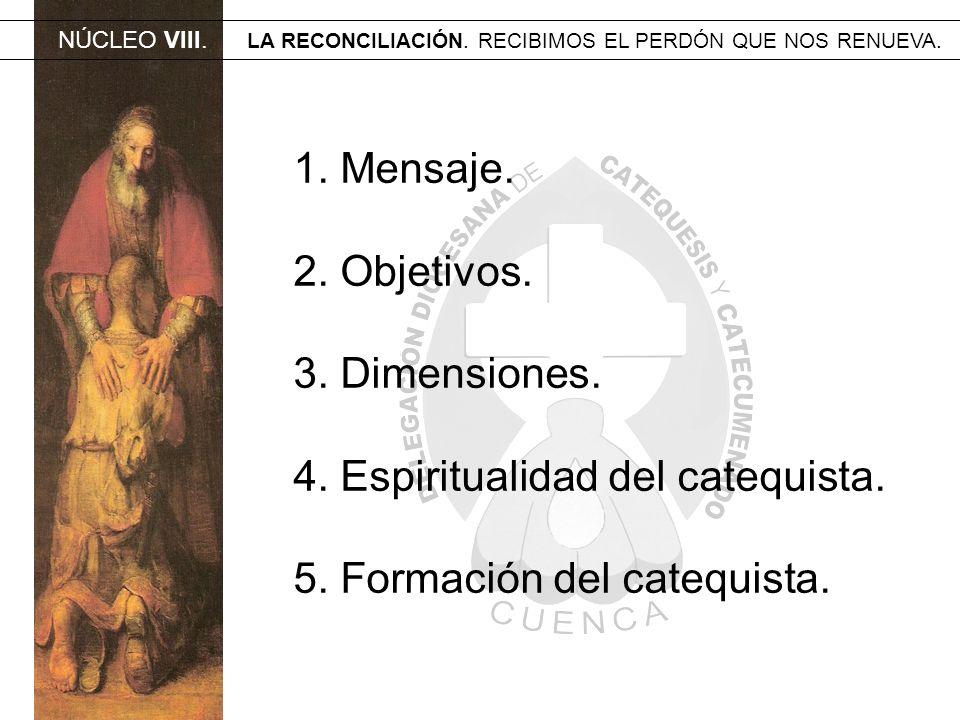 4. Espiritualidad del catequista. 5. Formación del catequista.