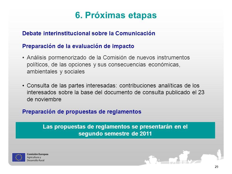 6. Próximas etapas Debate interinstitucional sobre la Comunicación