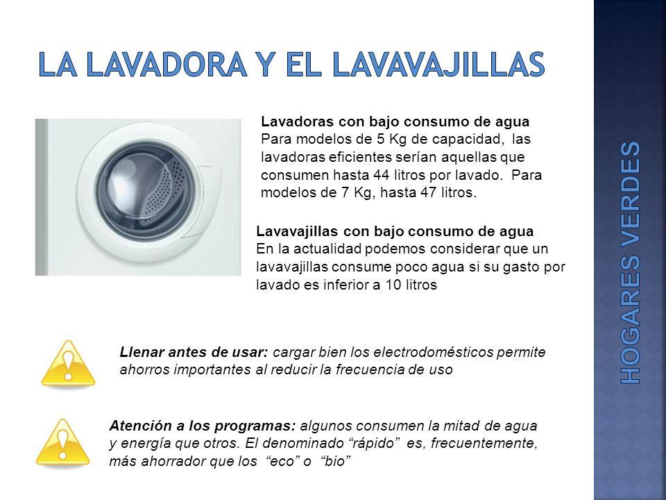 LA Lavadora y EL lavavajillas