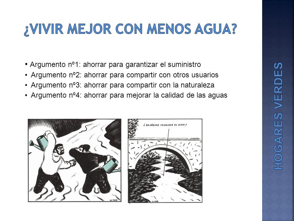 ¿VIVIR MEJOR CON MENOS AGUA