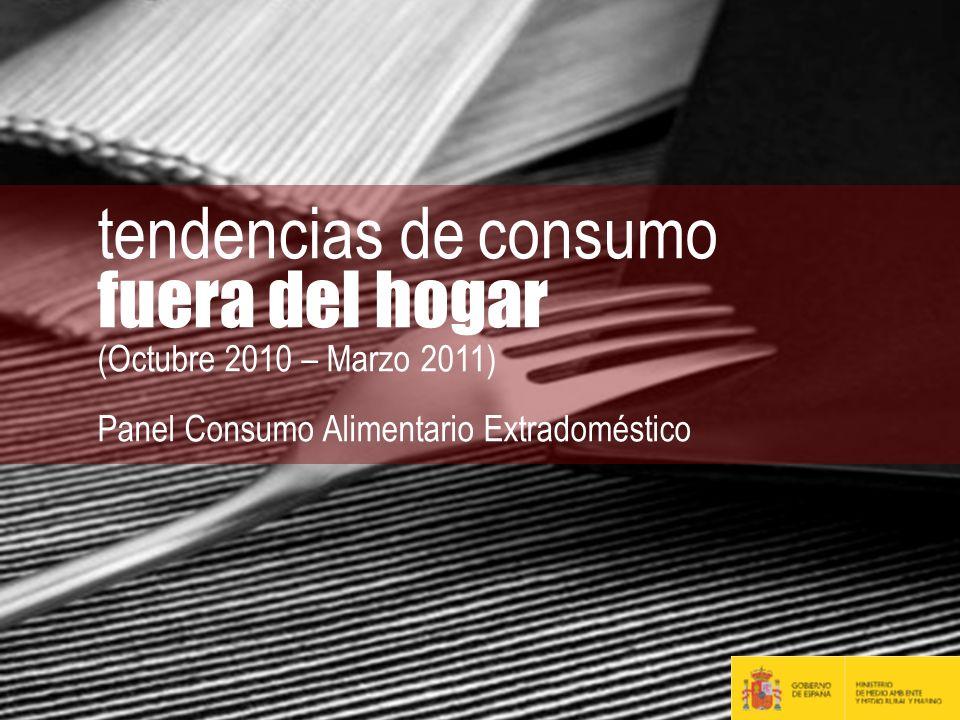 tendencias de consumo fuera del hogar (Octubre 2010 – Marzo 2011)