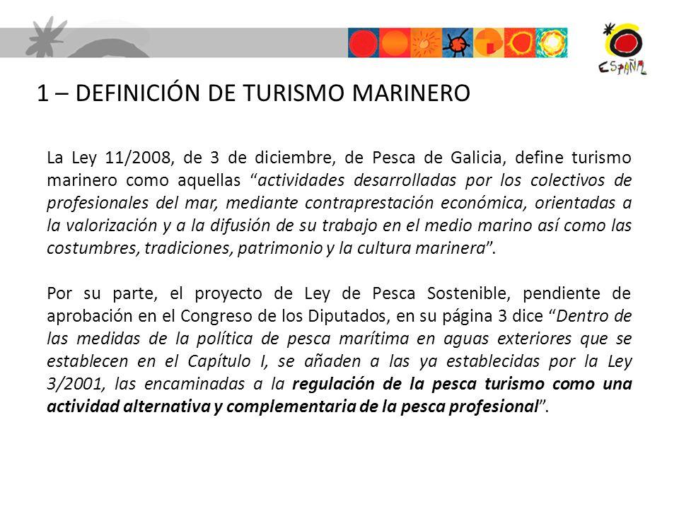 1 – DEFINICIÓN DE TURISMO MARINERO