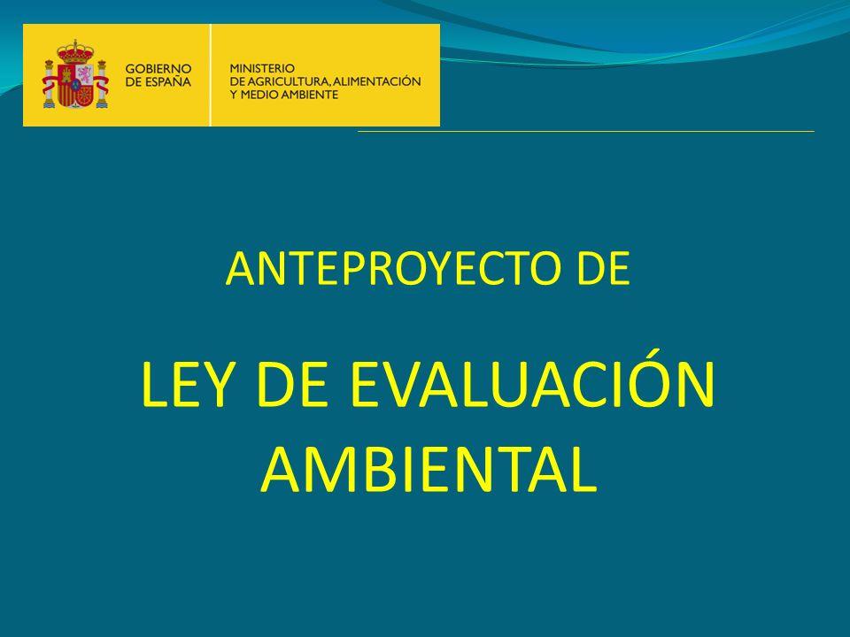 LEY DE EVALUACIÓN AMBIENTAL