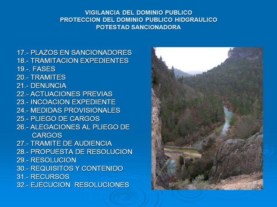17.- PLAZOS EN SANCIONADORES 18.- TRAMITACION EXPEDIENTES 19.-. FASES