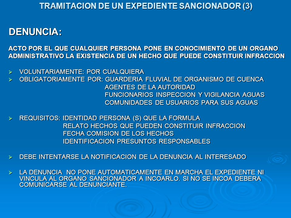 TRAMITACION DE UN EXPEDIENTE SANCIONADOR (3)