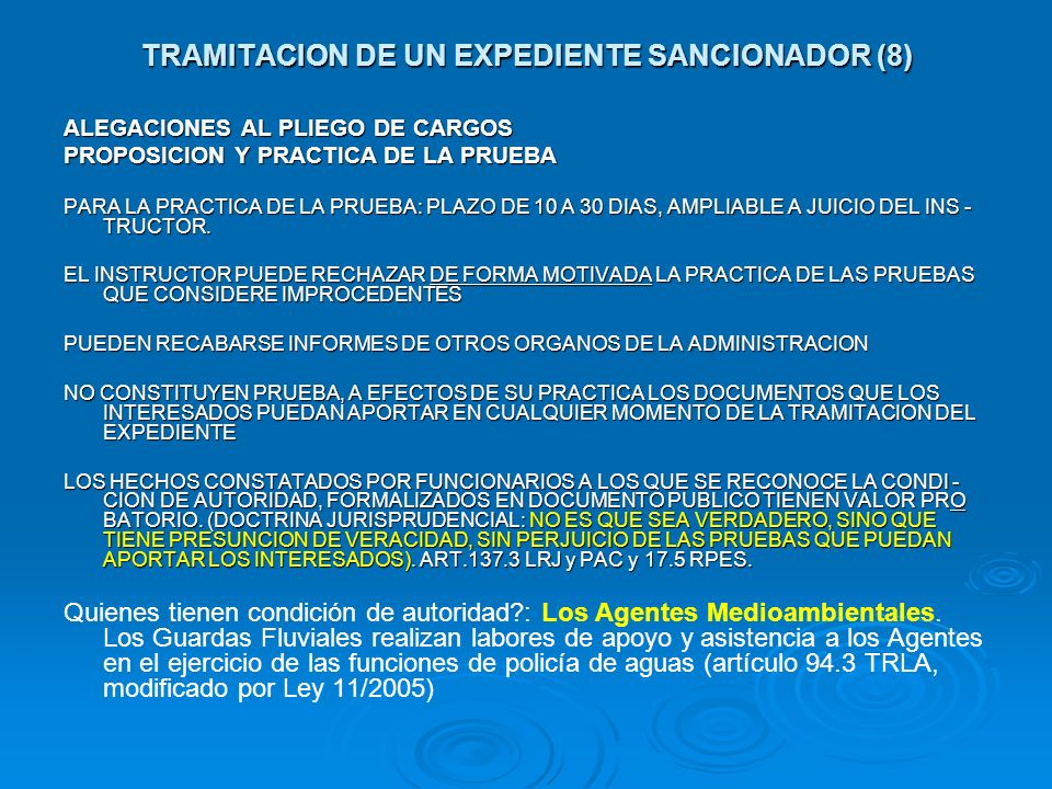 TRAMITACION DE UN EXPEDIENTE SANCIONADOR (8)