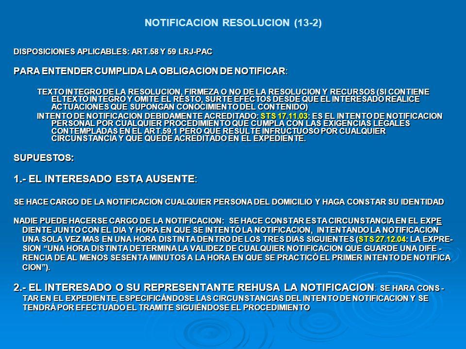 NOTIFICACION RESOLUCION (13-2)