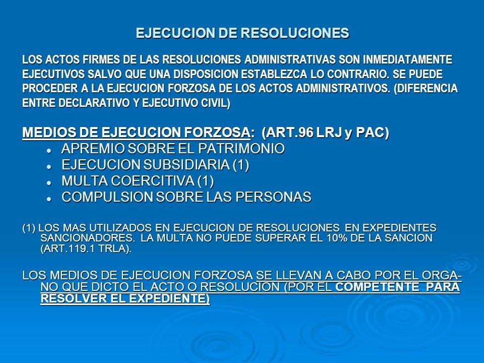 EJECUCION DE RESOLUCIONES