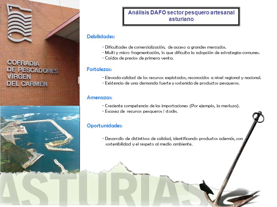 Análisis DAFO sector pesquero artesanal asturiano