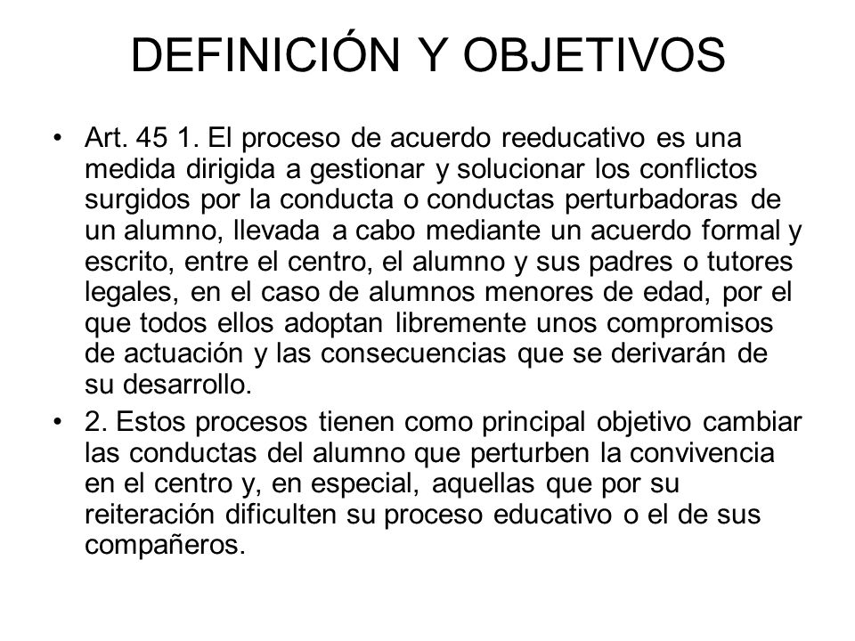 DEFINICIÓN Y OBJETIVOS