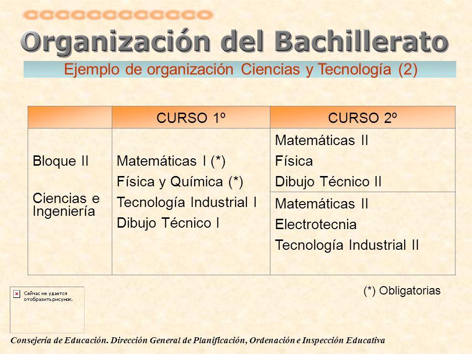 Ejemplo de organización Ciencias y Tecnología (2)