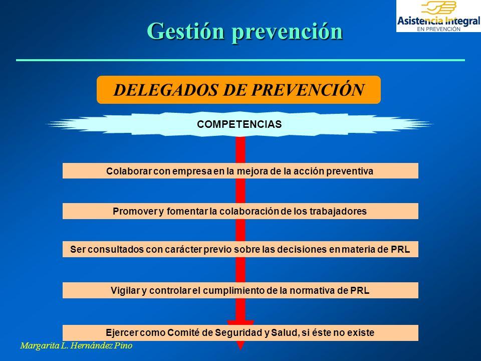 Gestión prevención DELEGADOS DE PREVENCIÓN COMPETENCIAS