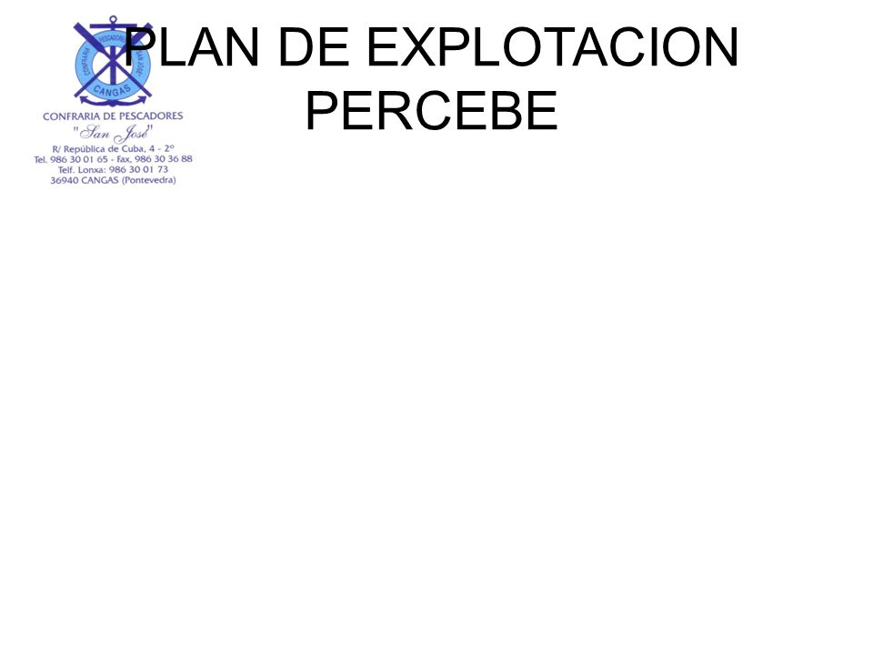 PLAN DE EXPLOTACION PERCEBE
