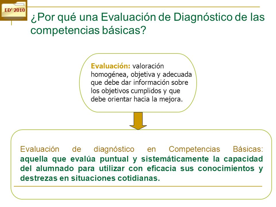 ¿Por qué una Evaluación de Diagnóstico de las competencias básicas