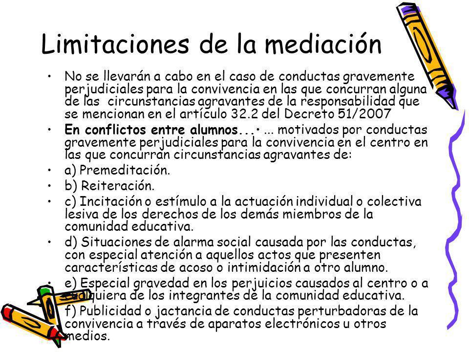 Limitaciones de la mediación