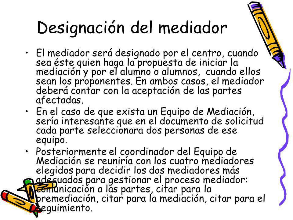 Designación del mediador