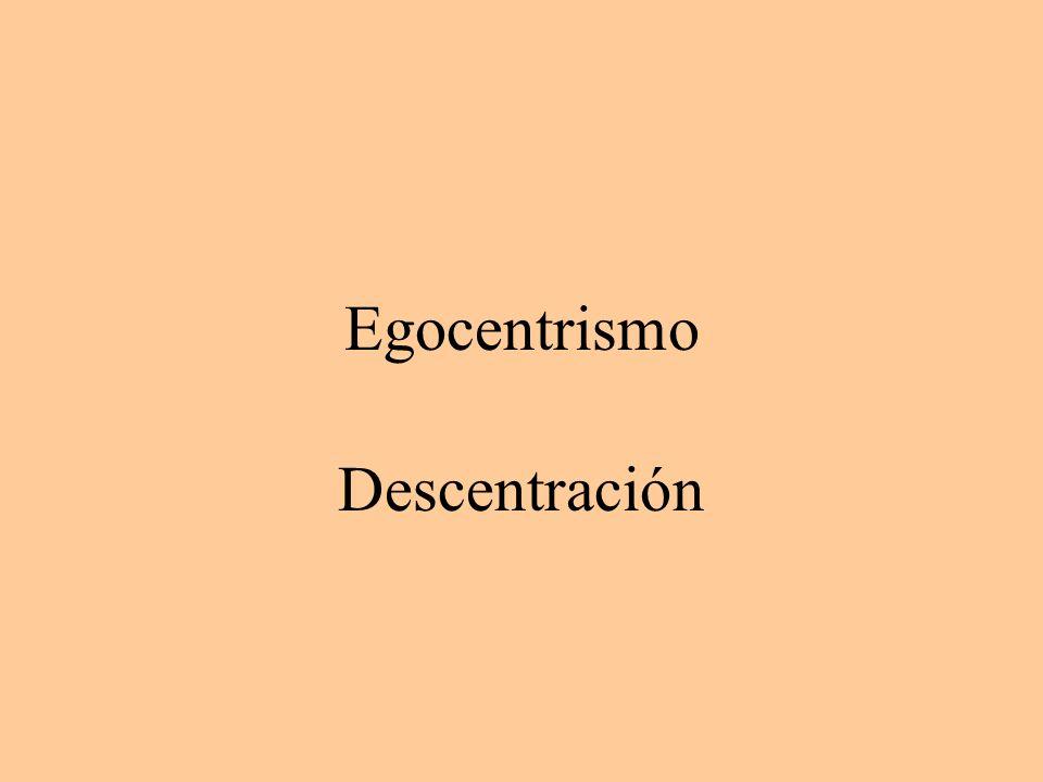 Egocentrismo Descentración