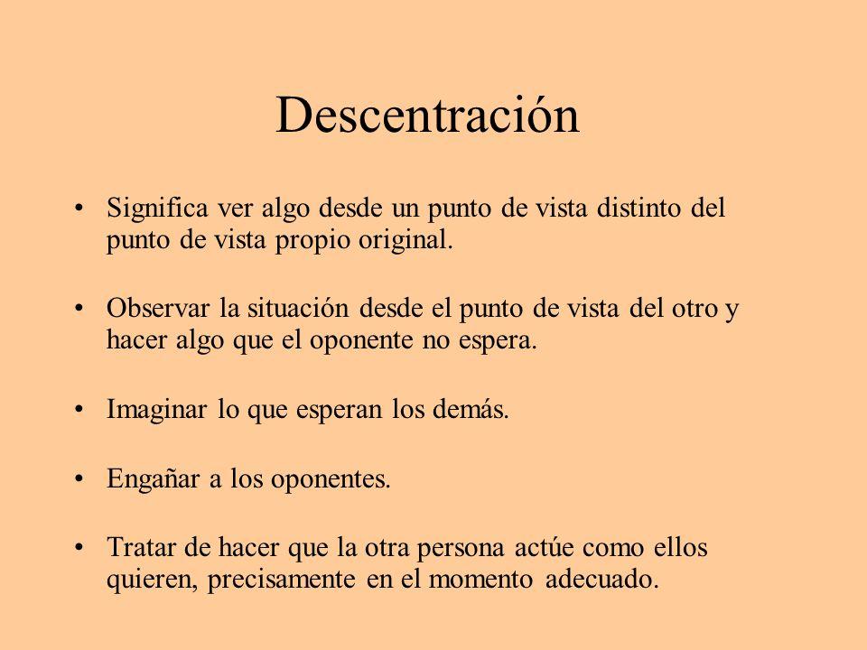 Descentración Significa ver algo desde un punto de vista distinto del punto de vista propio original.