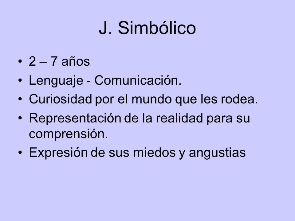 J. Simbólico 2 – 7 años Lenguaje - Comunicación.