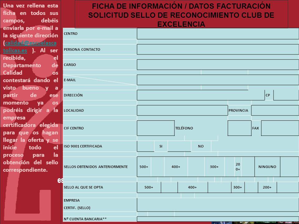 FICHA DE INFORMACIÓN / DATOS FACTURACIÓN