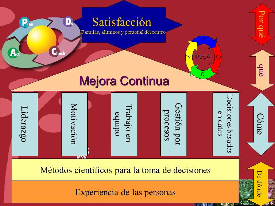 Satisfacción Mejora Continua Por qué qué Motivación Trabajo en