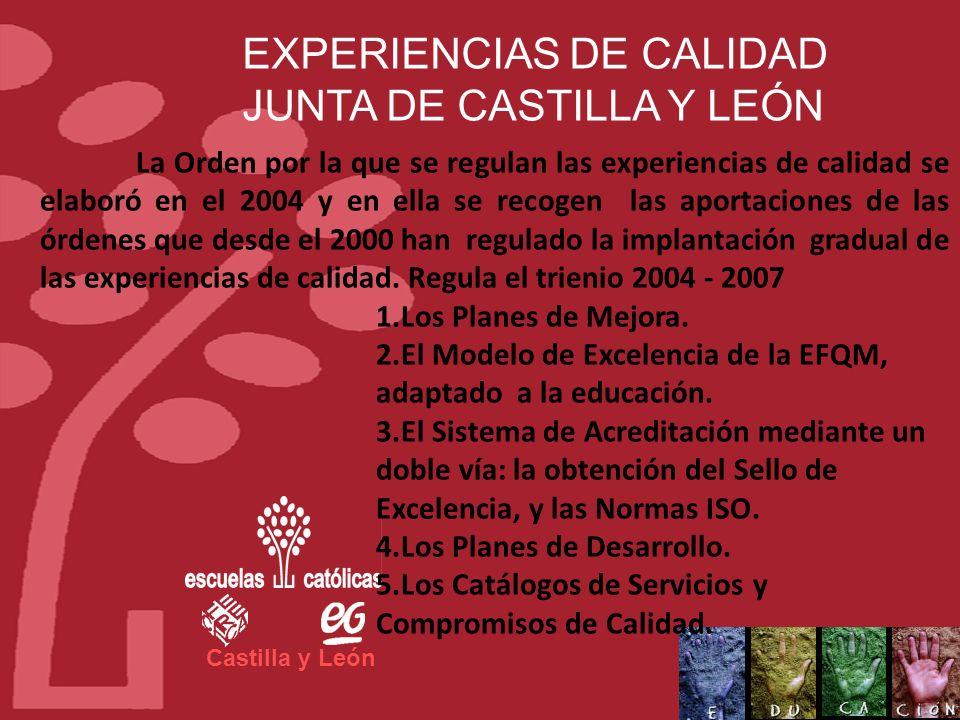 EXPERIENCIAS DE CALIDAD JUNTA DE CASTILLA Y LEÓN
